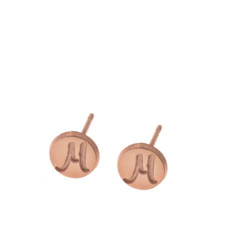 Clous d'oreilles Disques avec Initiales
