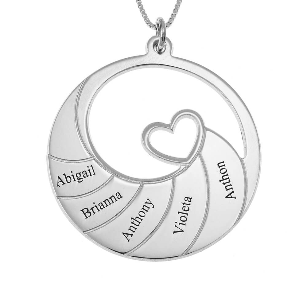 Five Prénoms Spiral Collier silver