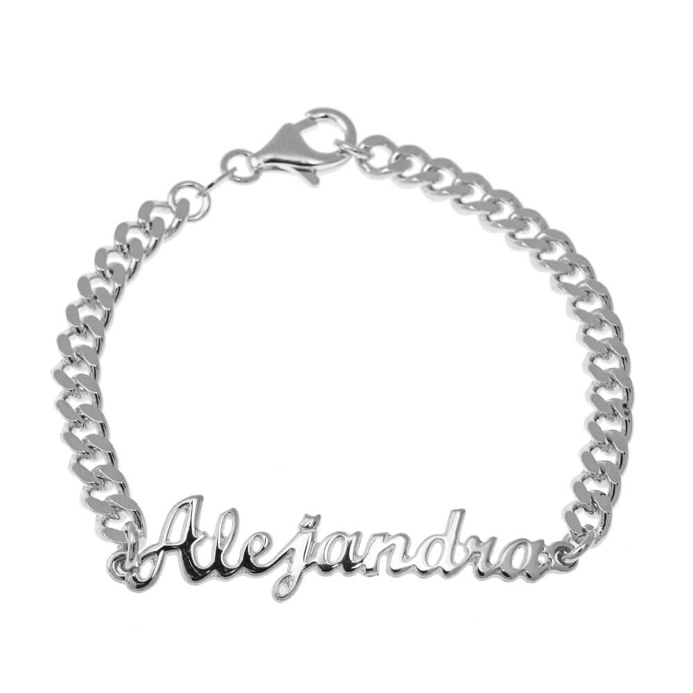 prénom Bead Bracelet silver