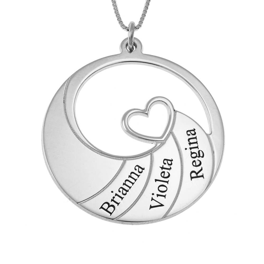 Three Prénoms Spiral Collier silver