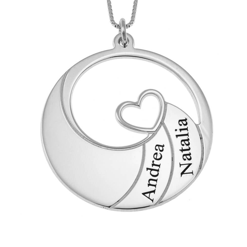 Two Prénoms Spiral Collier silver