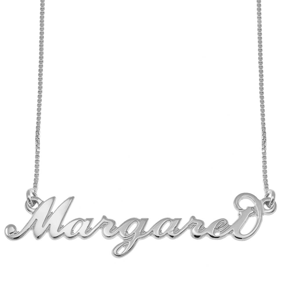 Carrie Style prénom Collier silver