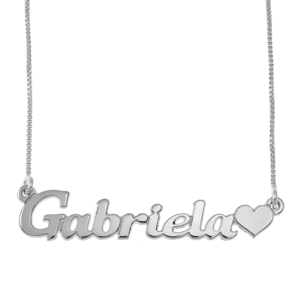 Classic prénom Collier With Cœur silver