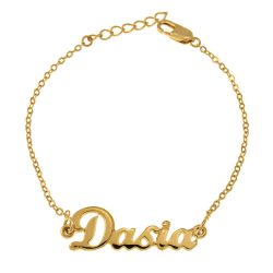 Dainty prénom Bracelet gold