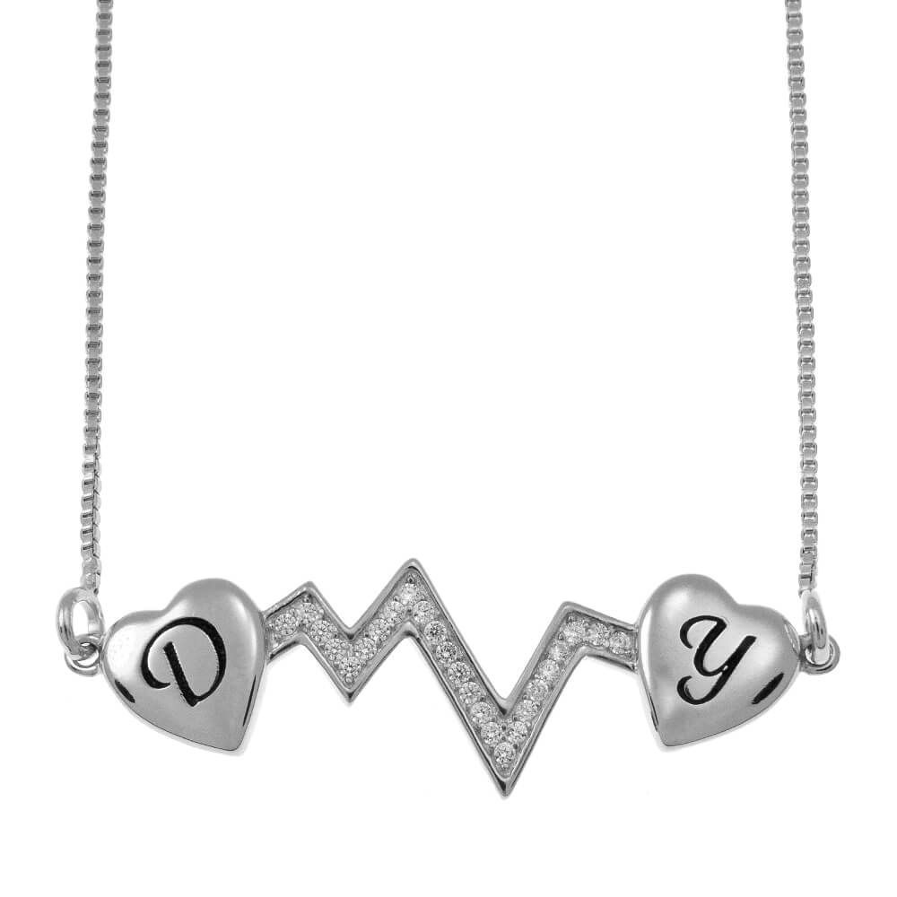 Cœurbeat Two Initial Collier silver
