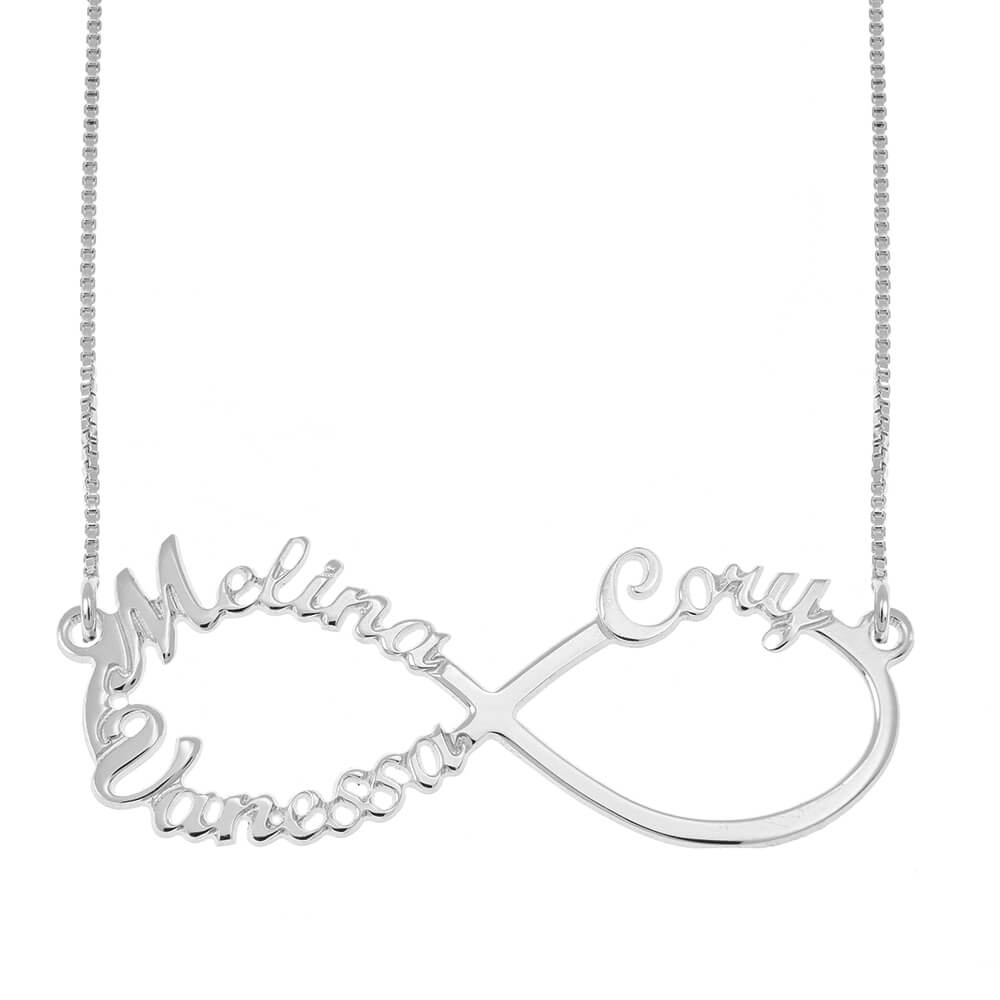 Infinity 3 Prénoms Collier silver