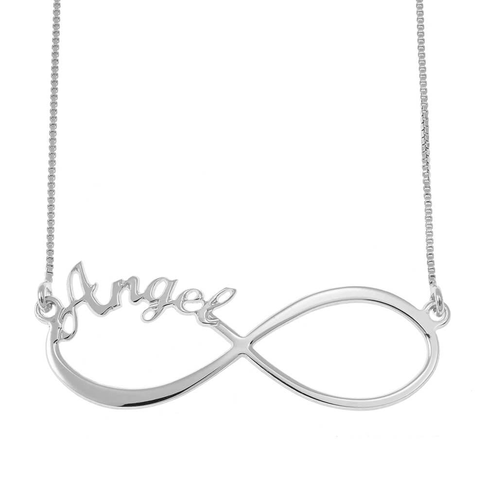 Infinity one prénom Collier silver