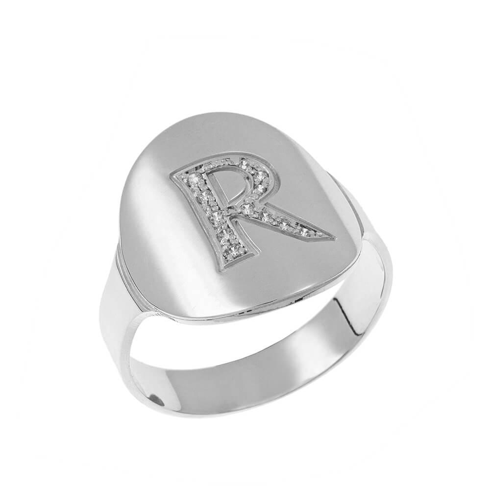 Inlay Signet Bague silver