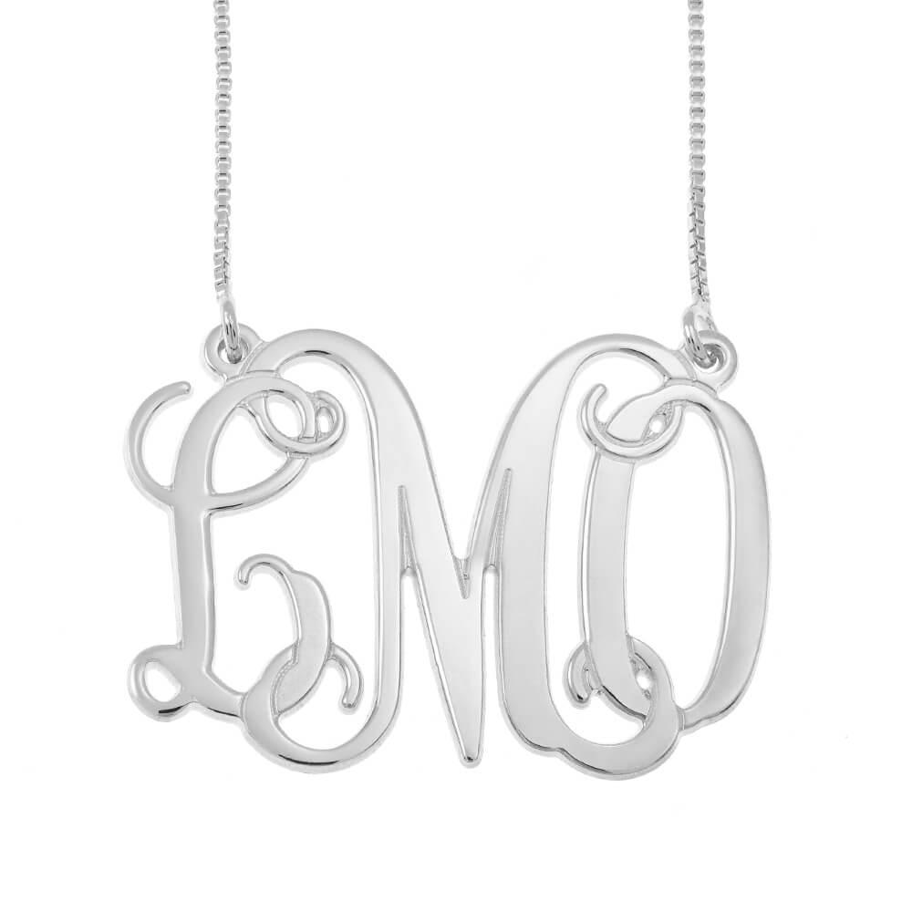 Monogram Initials Collier silver