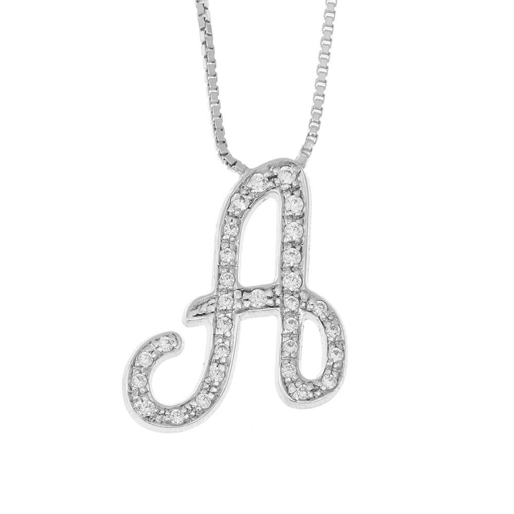 Sparkling Initial Collier silver