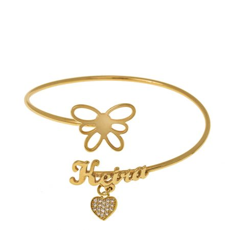 Bracelet Flex Prénom à Papillon
