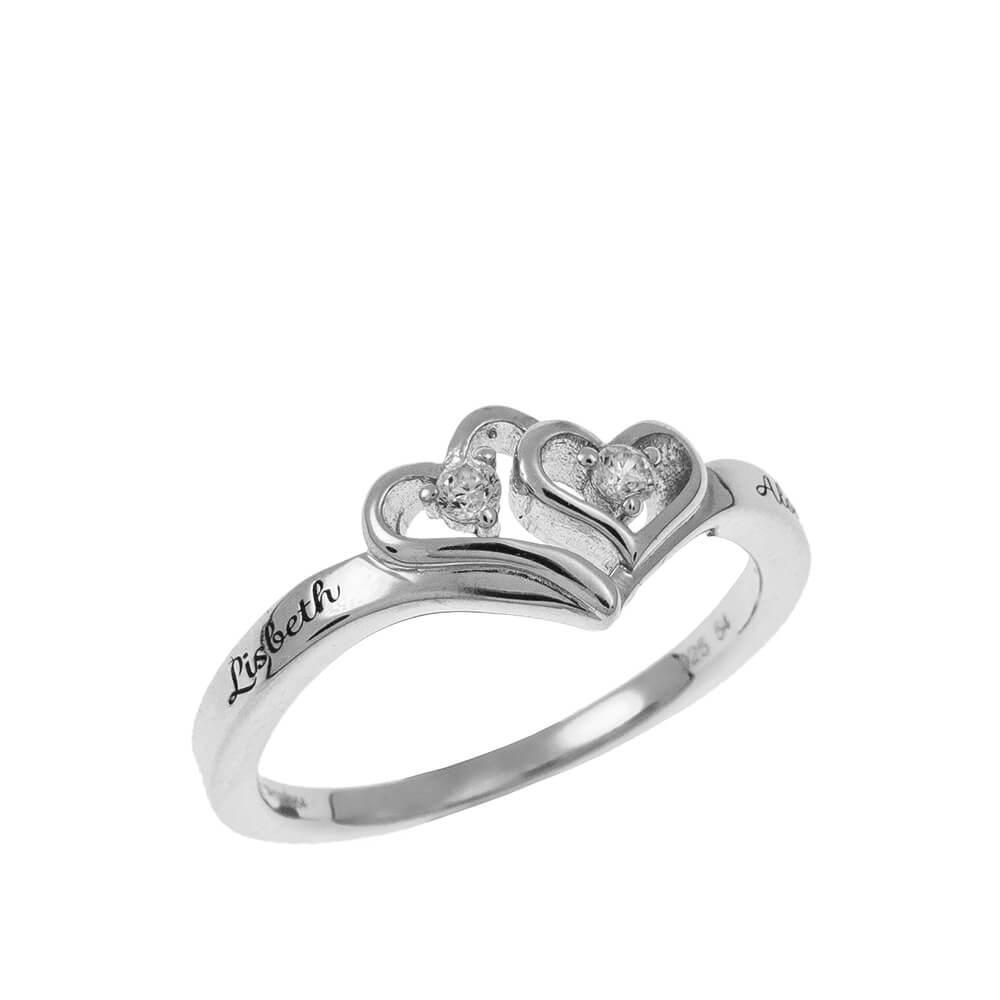 Cœur to Cœur Promise Bague silver