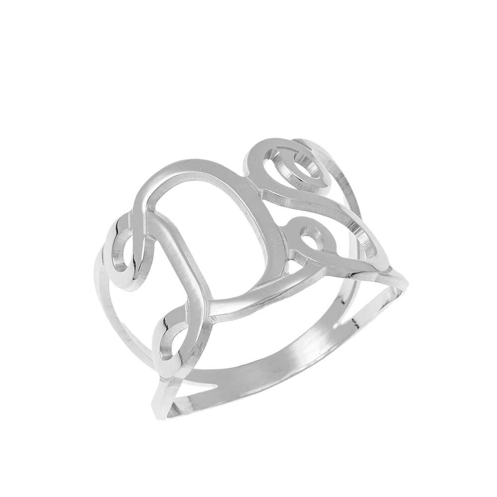 Interlocking Initials Bague silver