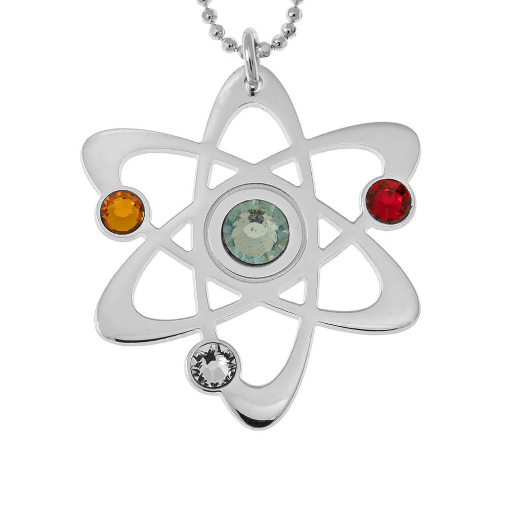 Atom Collier with Pierres de naissance silver