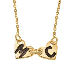 Attached Forever Cœurs Collier gold