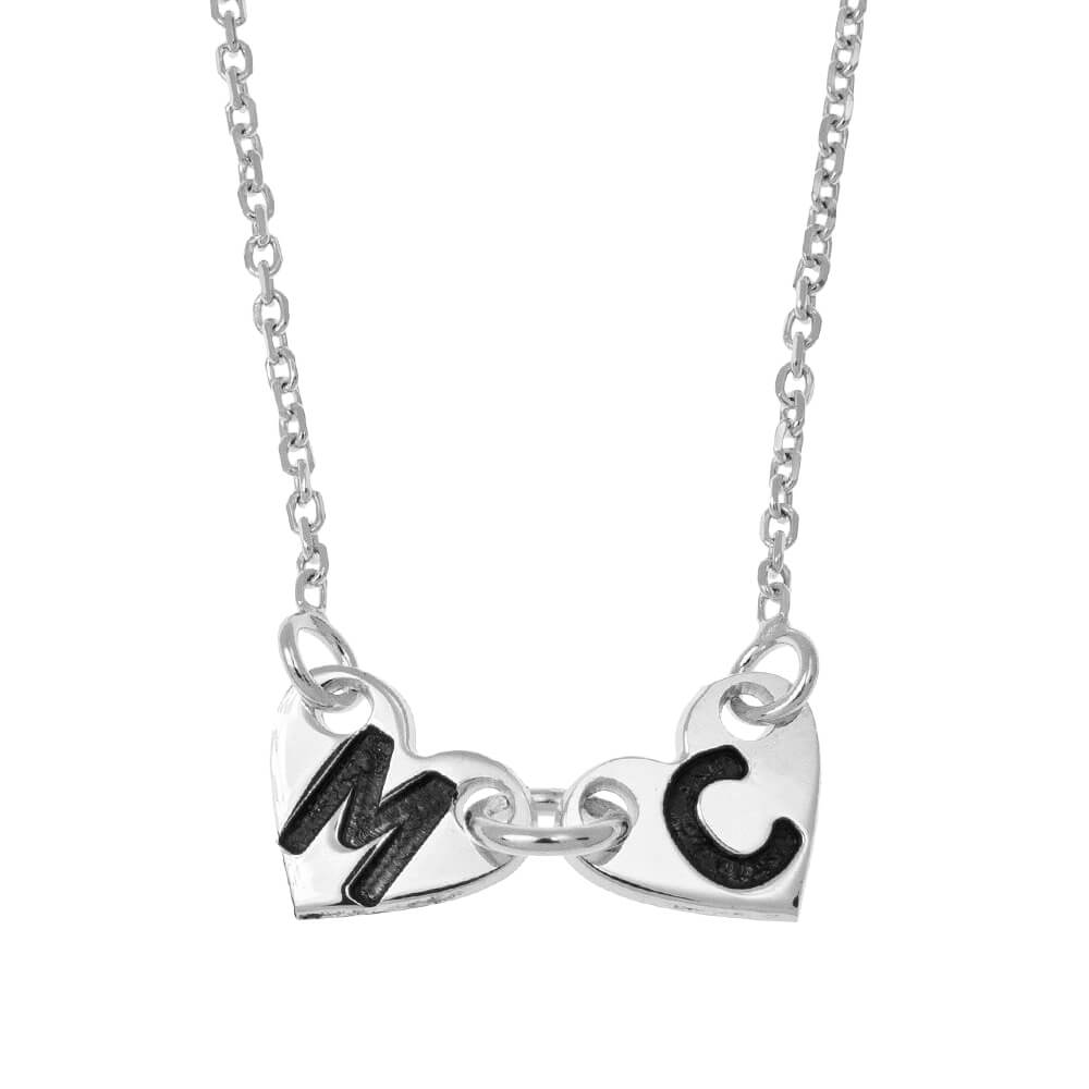 Attached Forever Cœurs Collier silver