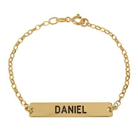 Bracelet Délicat en Barre avec Prénom