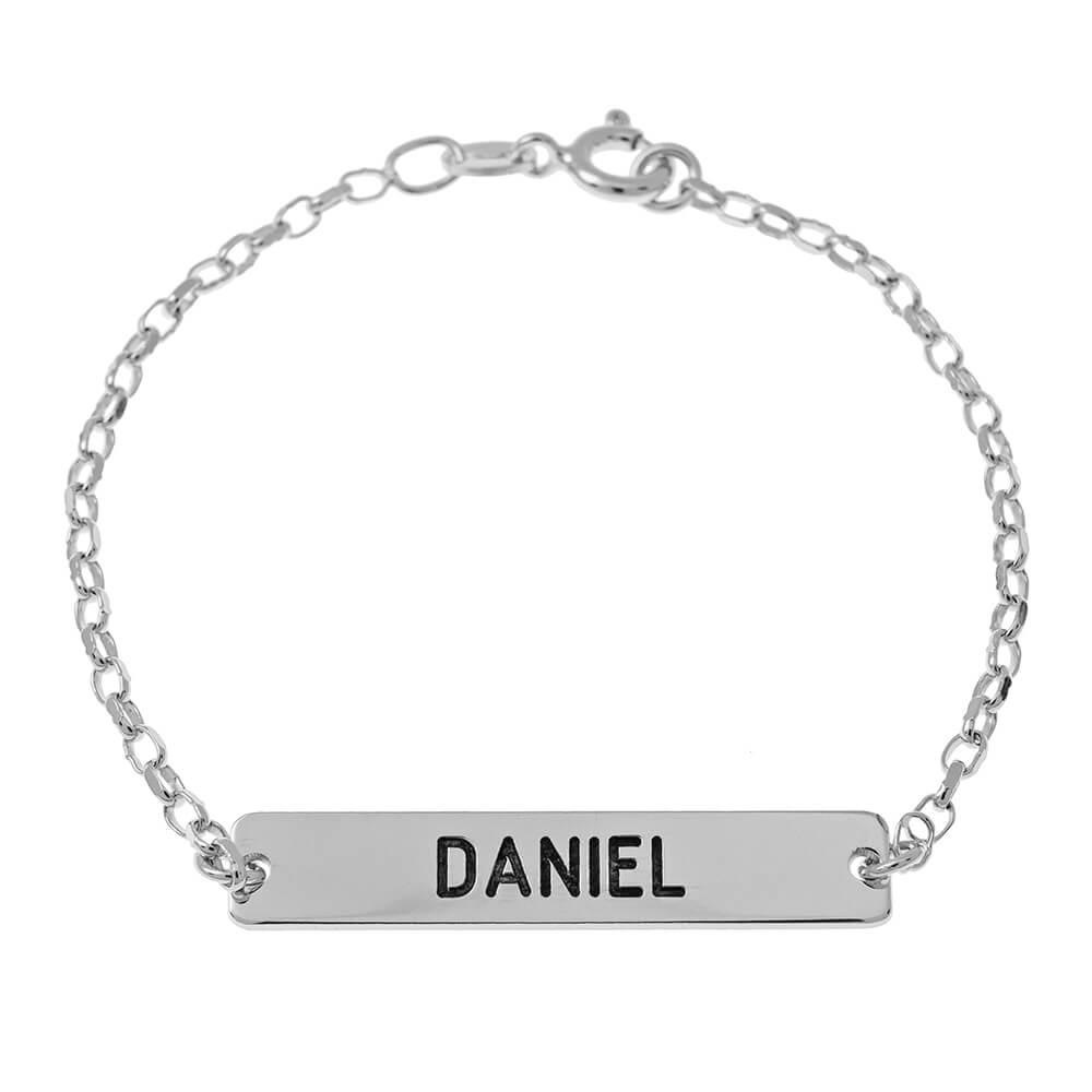 Barre prénom Bracelet silver
