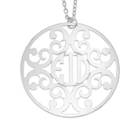 Collier Cercle Monogramme Décoré