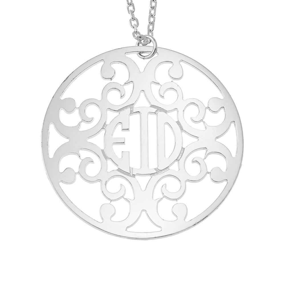 Circle Decorated Monogram Collier silver