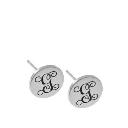 Clous d'oreilles Cercle Monogramme