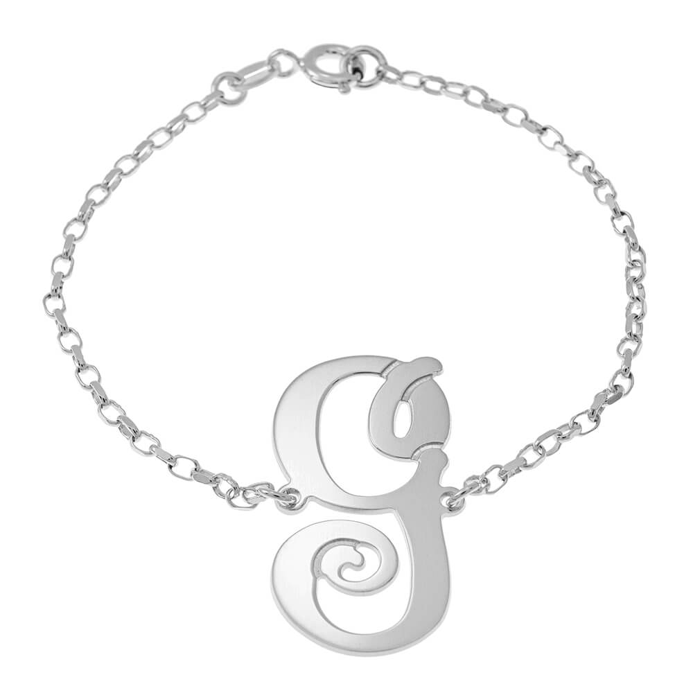 Delicate Monogram Bracelet silver