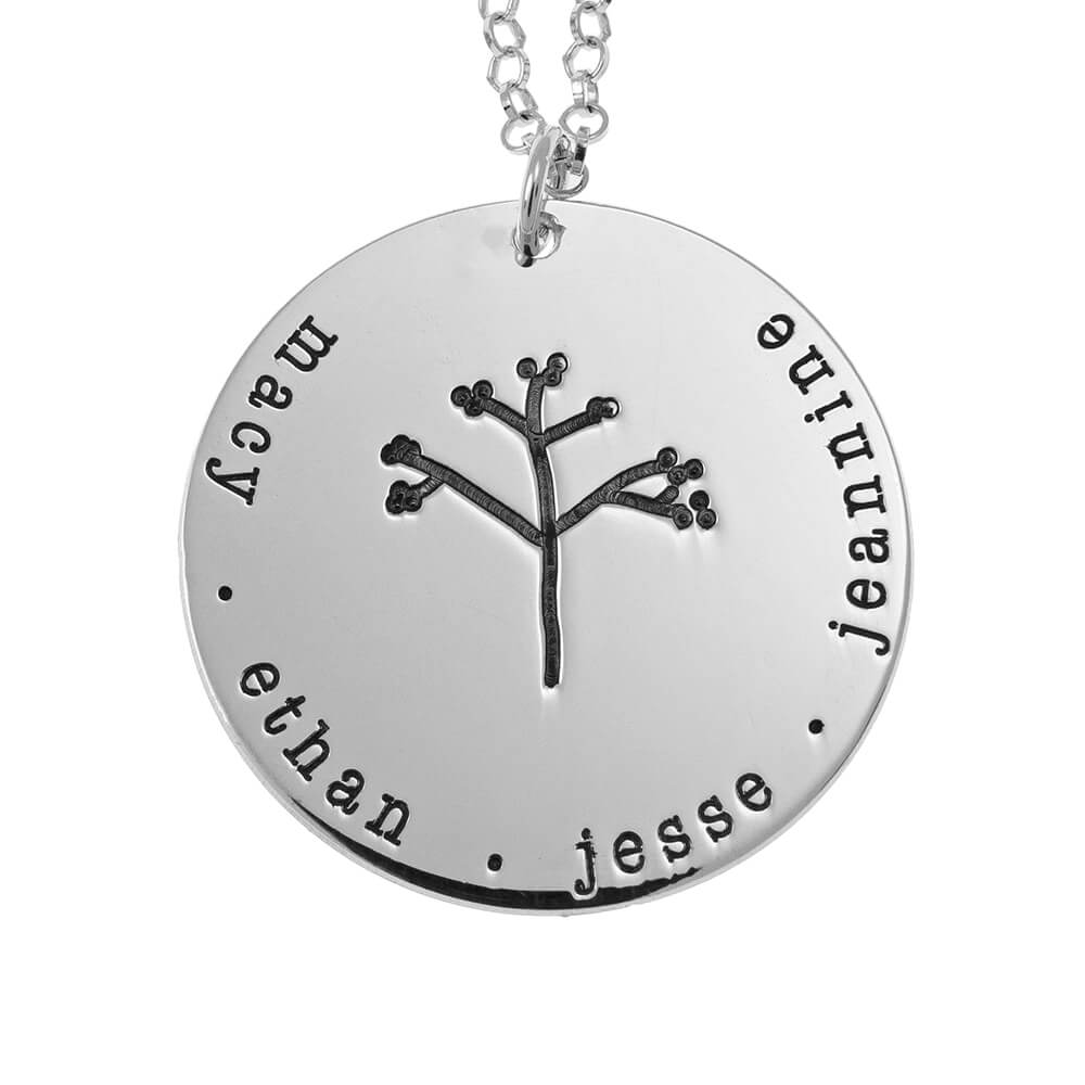 DisqueFamily Tree Collier silver