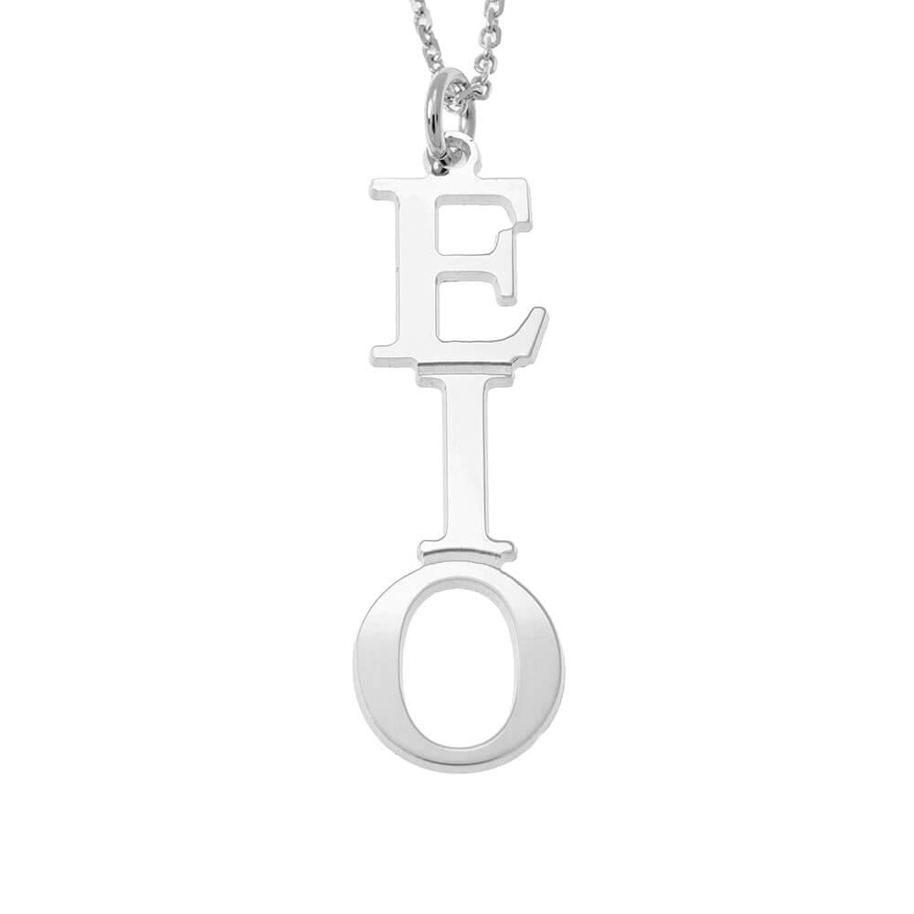 Greek Vertical Collier silver