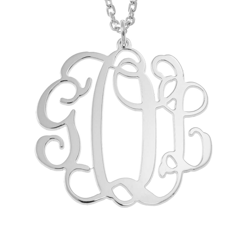Hanging Monogram Collier silver