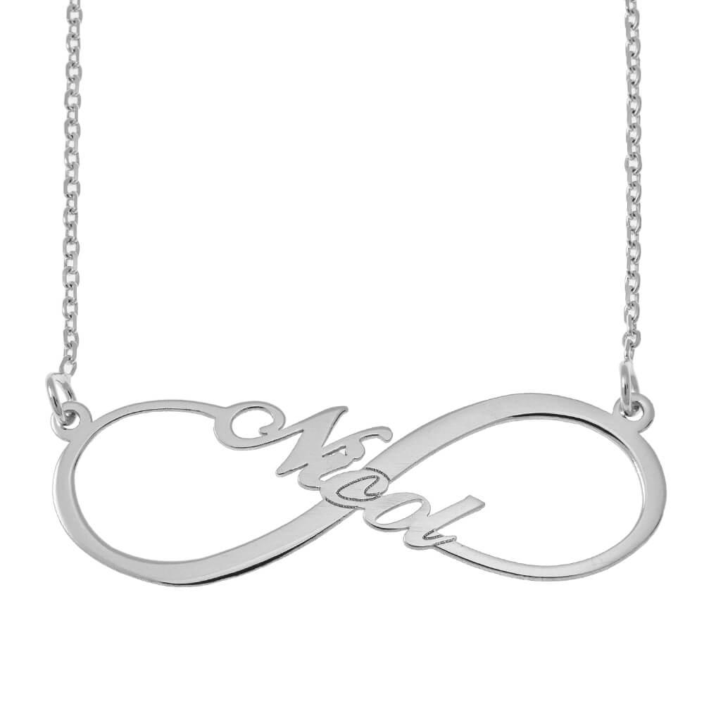 Infinity Style prénom Collier silver