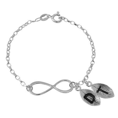 Bracelet Infini et Feuilles