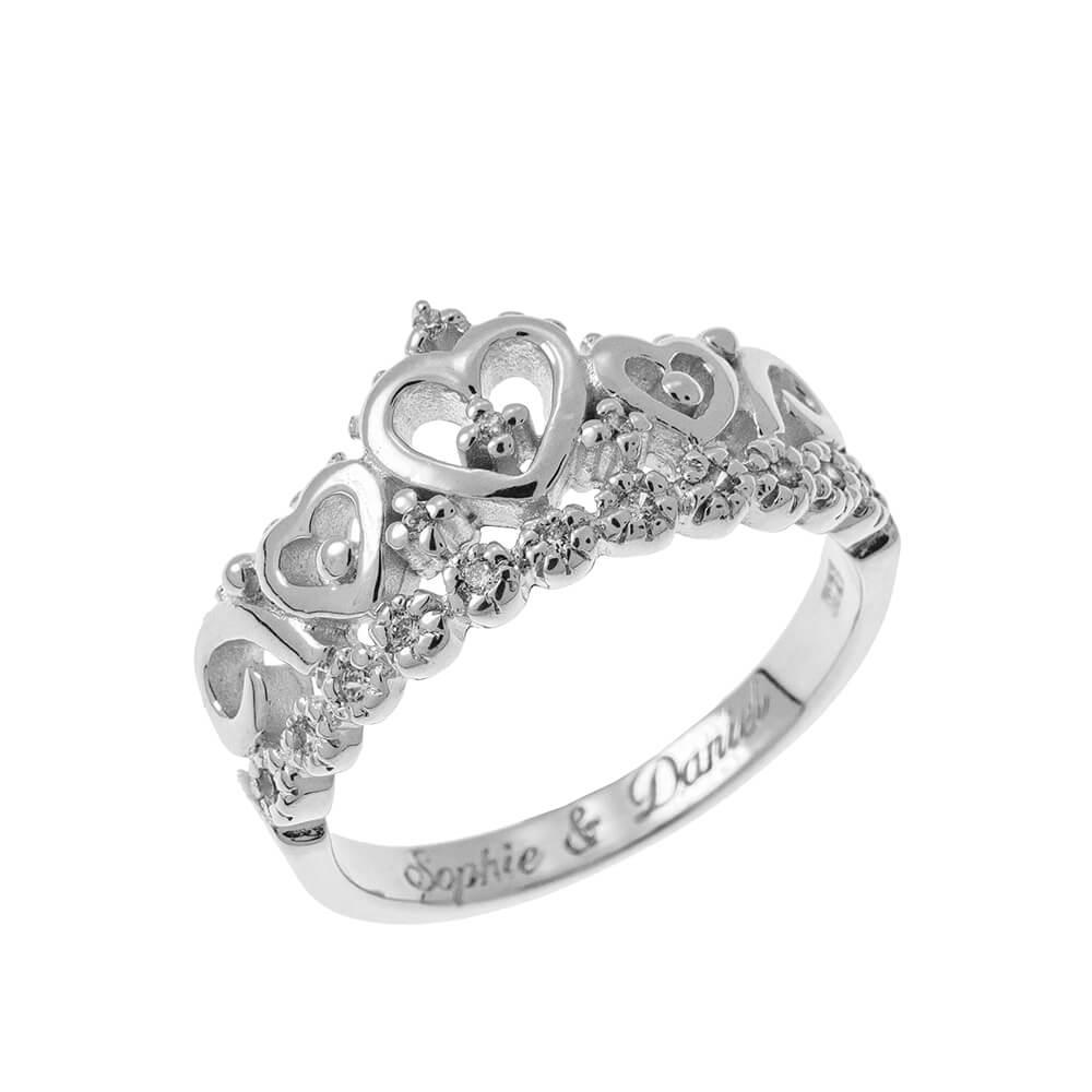 Inner Gravure Crown Bague silver