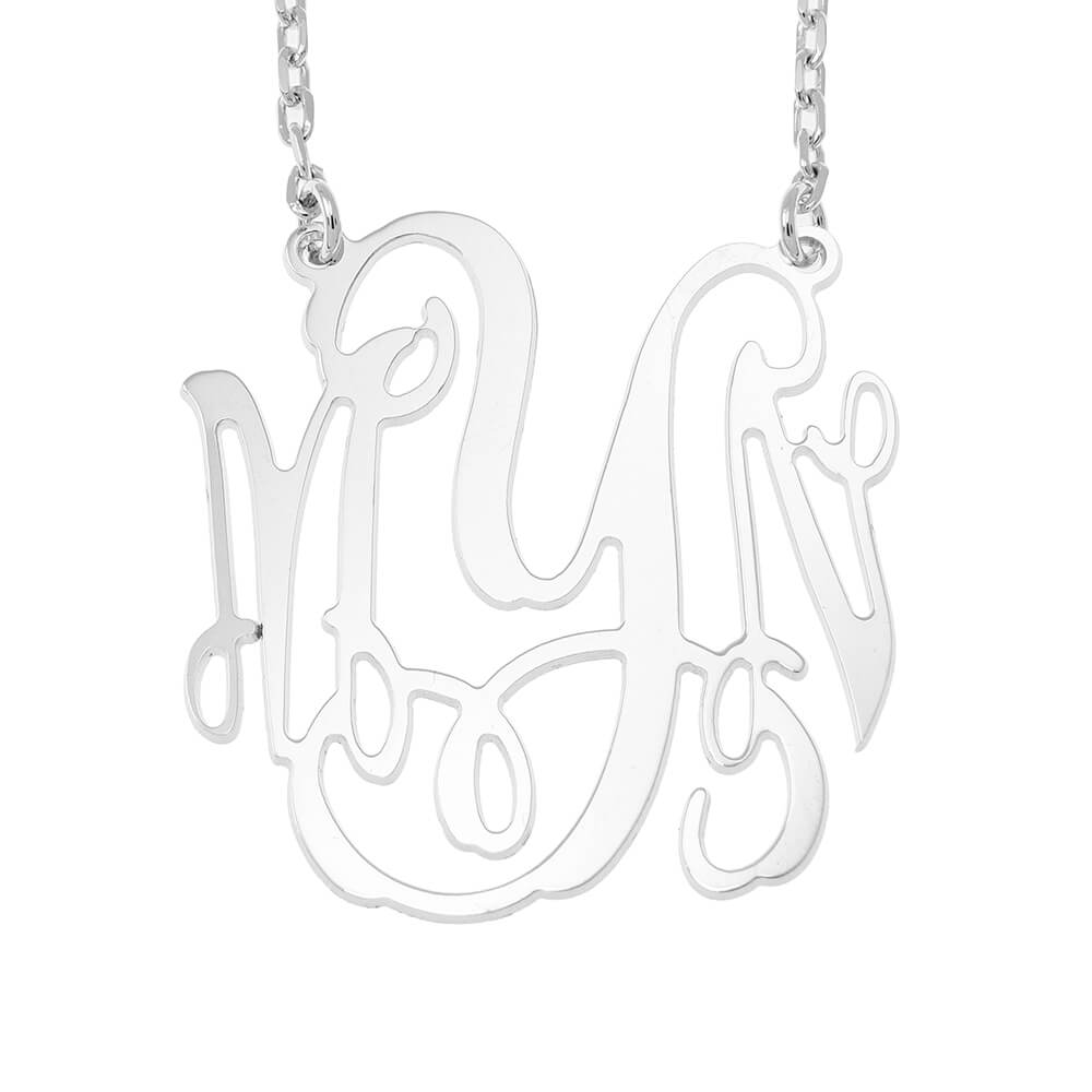 Large Monogram Collier silver