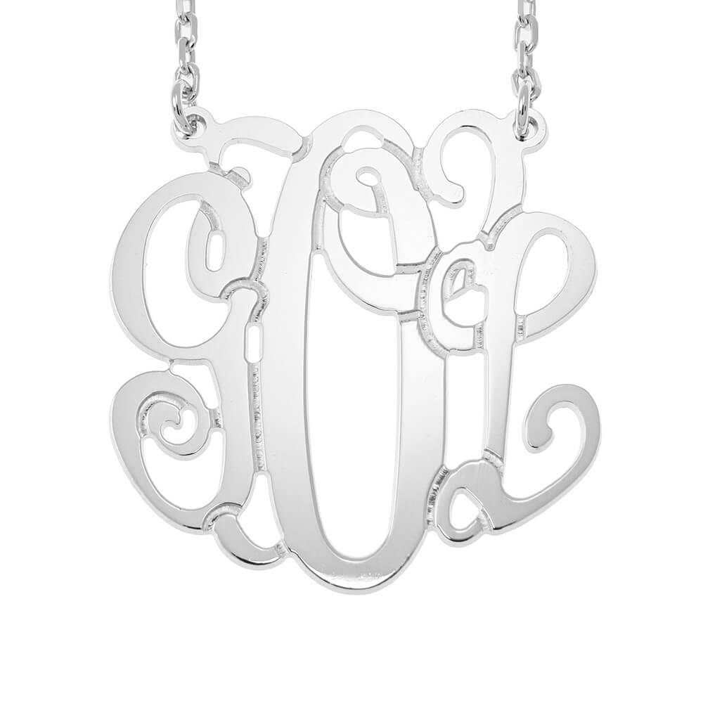 Monogram Collier silver