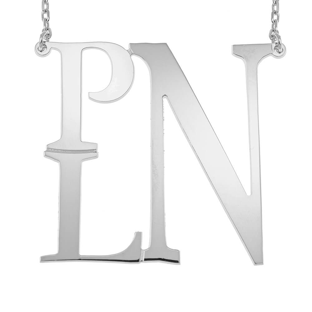 Square Monogram Collier silver