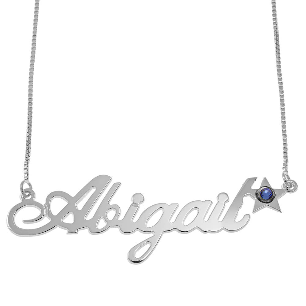 Star Classic Vénitienne prénom Collier silver