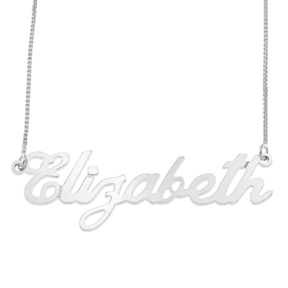 Carrie Style Vénitienne prénom Collier silver