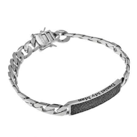 Bracelet Gourmette Incrusté pour Hommes