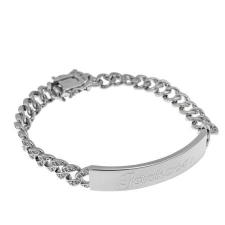 Bracelet en Barre avec Prénom pour Hommes