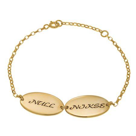 Bracelet Maman Ovale avec Prénoms d'enfants