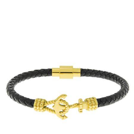 Bracelet en Cuir pour Hommes avec Ancre