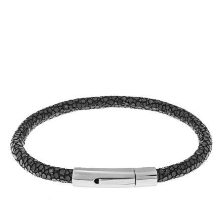 Bracelet de Luxe en Cuir et Acier Inoxydable pour Hommes