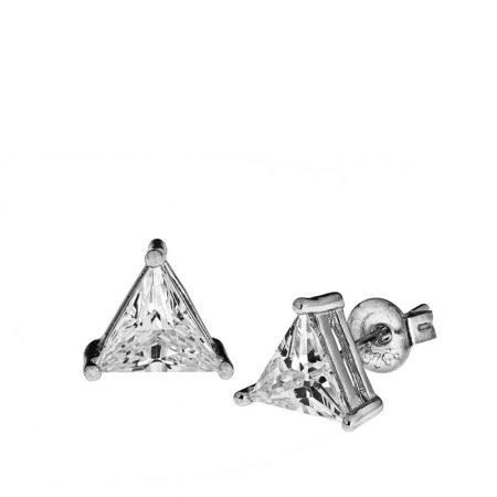 Boucles d'Oreilles Triangle en Zircon