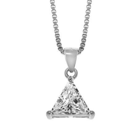 Collier Triangulaire en Zircon