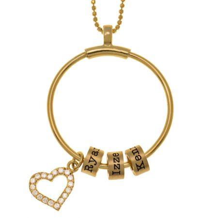 Collier Cercle de Perles avec Prénom et Coeur Incrusté